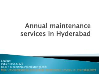 computer annual maintenances services in hyderabad