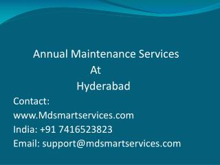 Annual Maintenance Contract Service in Hyderabad | Computer AMC Services in Hyderabad.
