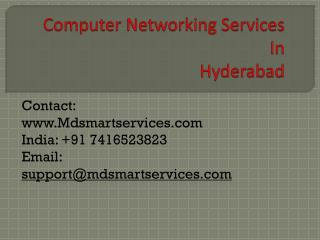 Best Computer Networking Services in Hyderabad at Mdsmartservices.com