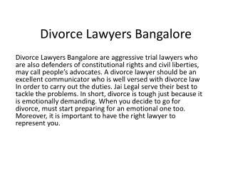 Divorce Lawyers Bangalore Koramangala