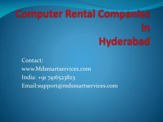 Best Computer rental Services in Hyderabad at Mdsmartservices.com