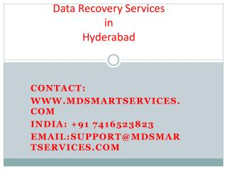 Best Data Recovery Services in Hyderabad at Mdsmartservices.com