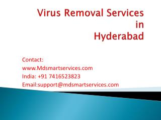 Best Computer Virus Removal Services in Hyderabad at Mdsmartservices.com