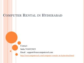 Desktops for rent in hyderabad | Desktops rental services in hyderabad