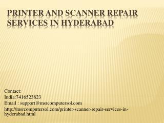 Scanner repair shops in hyderabad | Scanner service center in hyderabad