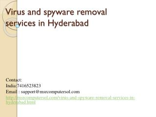Computer Virus virus removal services in hyderabad at doorstep | Malware Removal Services in Hyderabad at doorstep