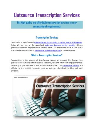 Outsource Transcription Services Provider