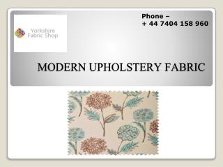 Modern Upholstery Fabric