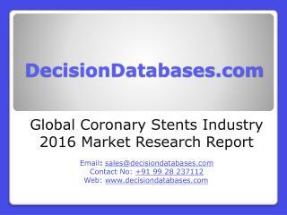 Coronary Stents Market Analysis 2016 Development Trends