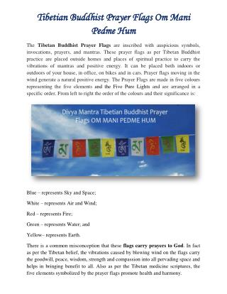 Tibetian Buddhist Prayer Flags OM MANI PEDME HUM