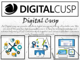 Top Quality Online Digital Marketing by Digital Cusp
