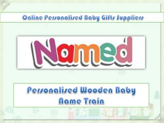 Personalised Wooden Baby Name Train