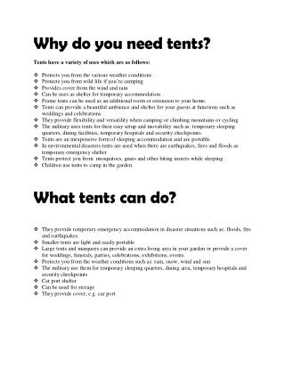 10 Easy ways to Buy Tents