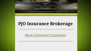 Mesa Contractor's Insurance