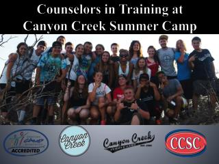 Counselors in Training at Canyon Creek Summer Camp