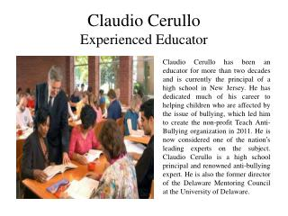 Claudio Cerullo Experienced Educator