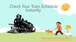 train schedule status