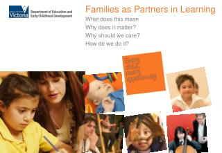 Families as Partners in Learning