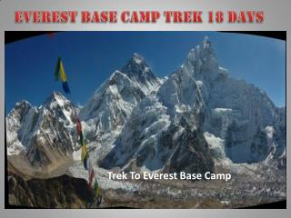 Everest Base Camp Trek 18 Days