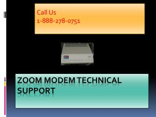 Zoom Modem Technical Support