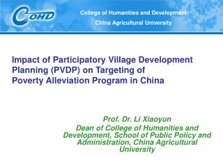 Impact of Participatory Village Development Planning PVDP on Targeting of  Poverty Alleviation Program in China