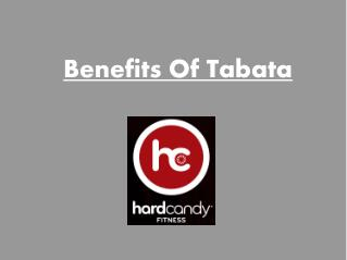 Benefits of Tabata