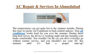 AC Repair & Services In Ahmedabad
