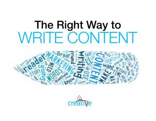 The Right Way to Write Content