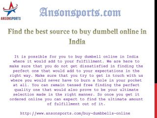 Find the best source to buy dumbell online in India
