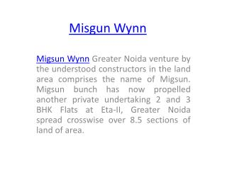 Fresh Project Migsun Wynn In Greater Noida