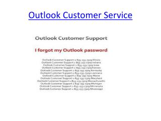 Outlook Customer Service & Technical support helpline