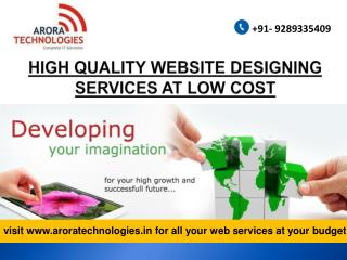 WEBSITE DESIGNING SERVICES IN INDIA