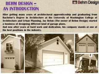 Amazing Garage Plans by Behm Design