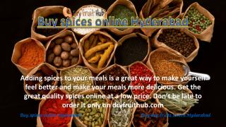 Buy spices online Hyderabad