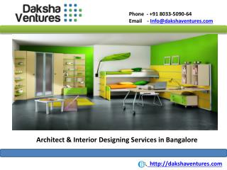 Architect & Interior Designing Services Bangalore,India