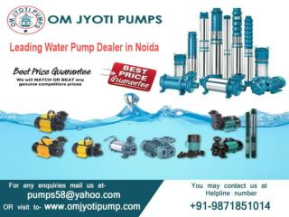 Authorized Submersible pump dealers Noida Om jyoti pumps
