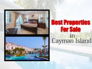 Best Properties For Sale In Cayman Islands