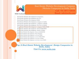 Realestate Website Development Companies Delhi/NCR
