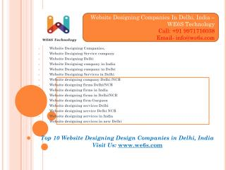 Website Development Companies Delhi/NCR, India