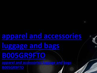apparel and accessories luggage and bags B005GR9FTO