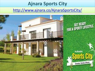Ajnara Sports City With Spacious Floor Plan
