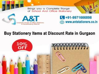 Stationery suppliers in Gurgaon - A&T Stationers