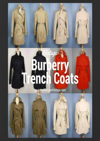 Boost Your Confidence with Vintage Trench Coats