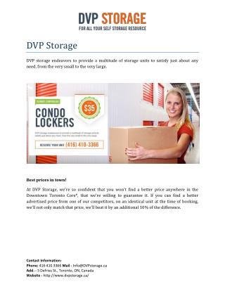 DVP Storage