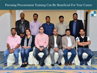 Pursuing Procurement Training Can Be Beneficial For Your Career