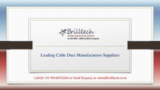 Cable Bus Duct Manufacturers