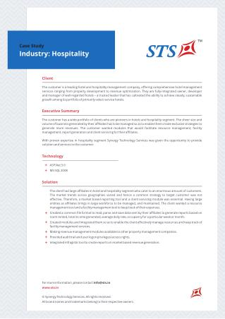 Hospitality Operation Management Case Study