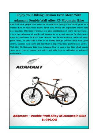 Adamant Double-Wall Alloy X5 Mountain Bike