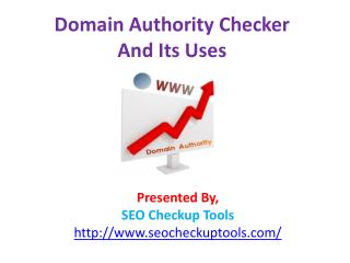 Domain Authority Checker and Its Uses