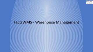 FactsWMS - Warehouse Management